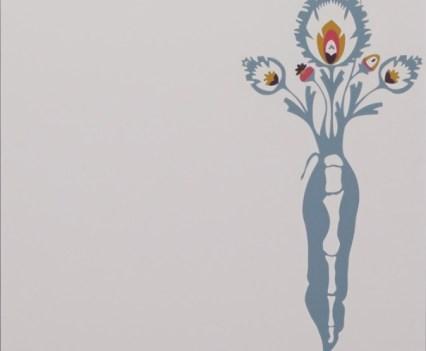 """ROH"", 2013 (Ausschnitt) Acryl auf Holz, 73,5x 73,5cm"