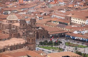 Plaza de Armas as seen from above