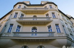 The balcony of Hitler's apartment in Munich