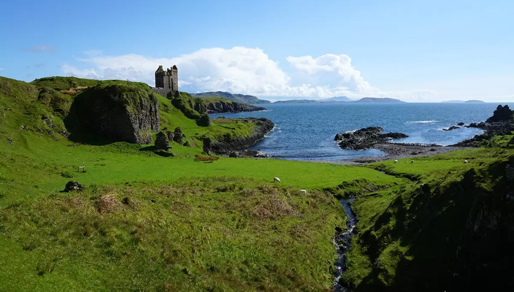 Gylen Castle ruin on Kerrerea Island near Oban Scotland