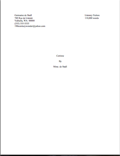 What a professional title page looks like, part III, or, just look