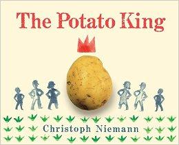 A potato wearing a crown.