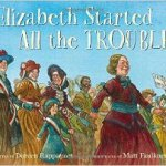 Cover of book showing Elizabeth Cady Stanton leading women in a march for rights
