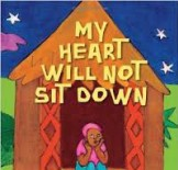 Cover of book showing African child sitting in doorway of hut.