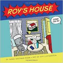 Image from a Roy Lichtenstein painting shows a living room scene
