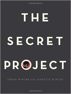 "cover of book--black with words ""The Secret Project"""