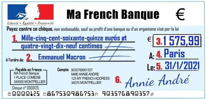 How To Write A French Bank Cheque The Right Way video and photos