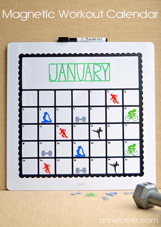 Magnetic Workout Calendar \u2013 Lab Hands - workout calendar