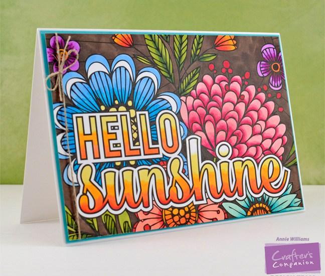 Colorista Hello Sunshine Card by Annie Williams - Main
