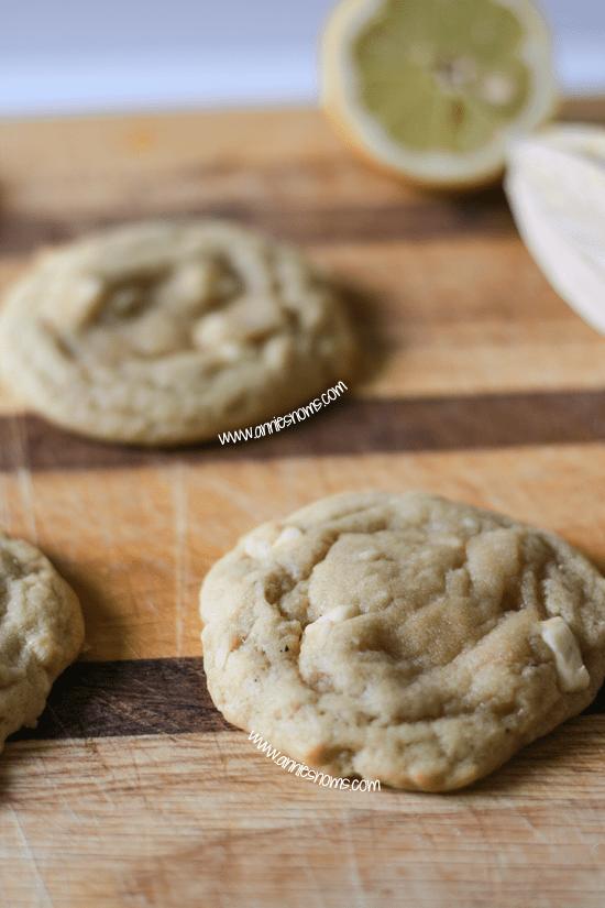 Lemon and White Chocolate Cookies
