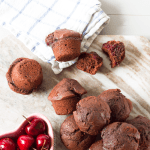 Chocolate Cherry Mini Muffins | Annie's Noms