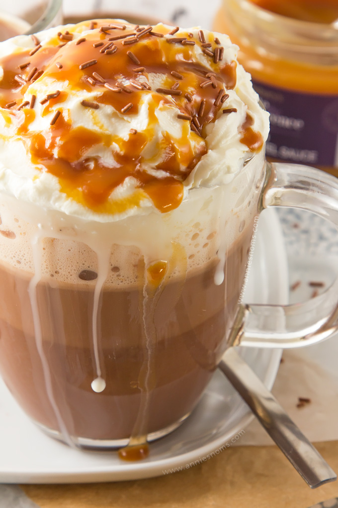 Craving a Salted Caramel Mocha, but not near a Starbucks? Then make my version of their delicious, sweet and salty drink in under 10 minutes!