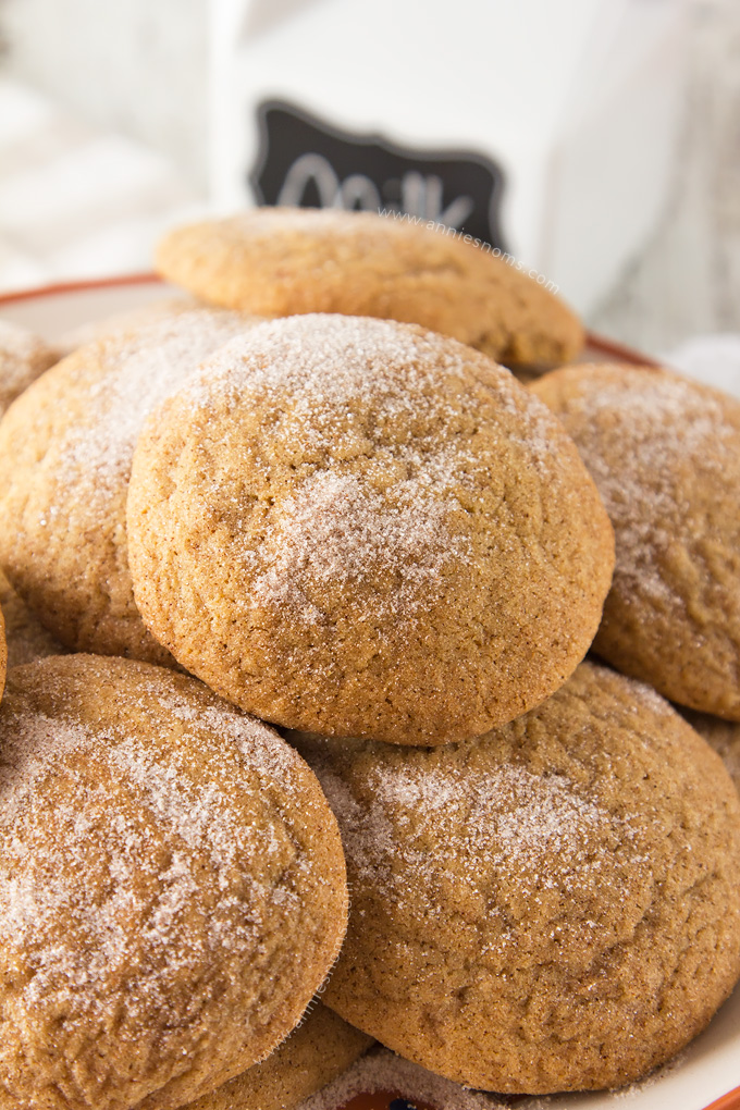 A sweet, spicy cookie, rolled in cinnamon sugar before being baked into perfectly puffy rounds. These Snickerdoodles are so moreish, you just won't be able to resist them!