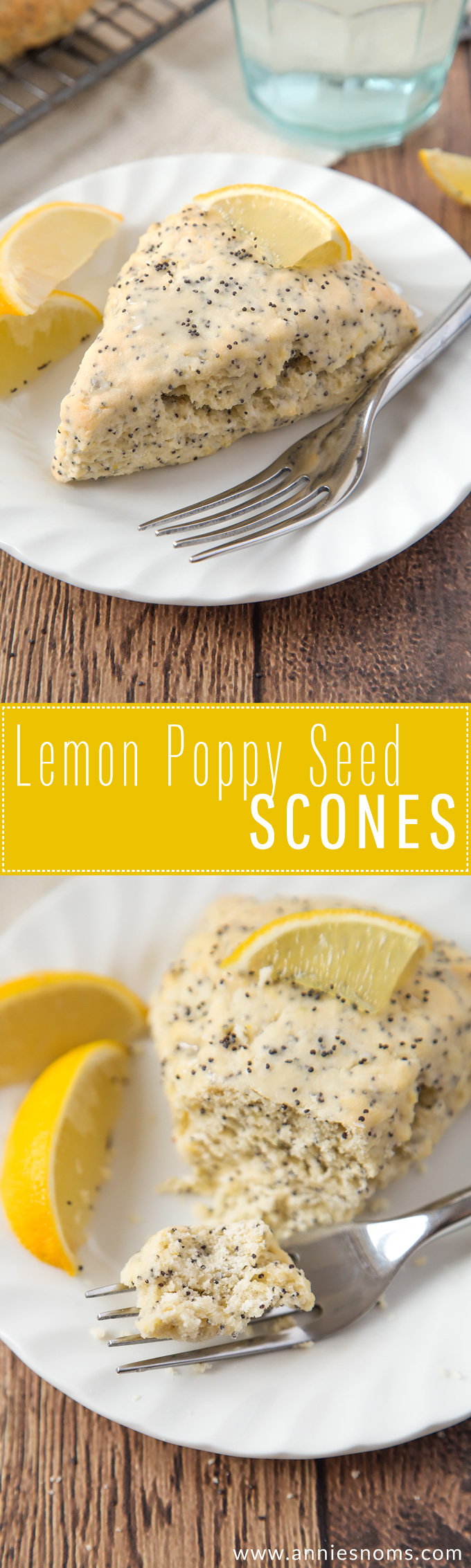 These light, flaky and citrus filled Lemon Poppy Seed scones are a cinch to make and are the perfect breakfast for a dull January morning!