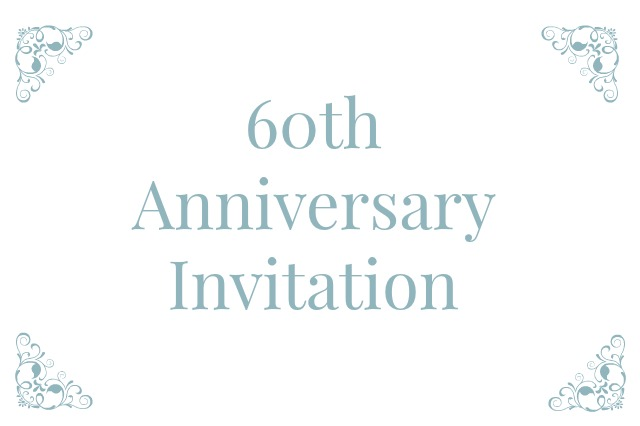 60th Wedding Anniversary Invitations For Your Parents