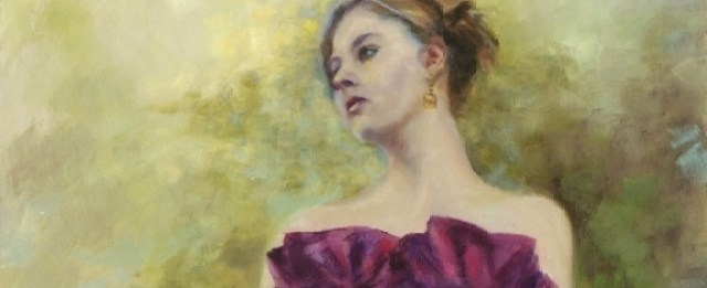 Atlanta portrait paintings example of Debutante in Purple Gown