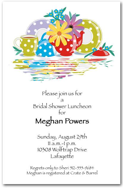 Polka Dot Tea Party Invitations - tea party invitation