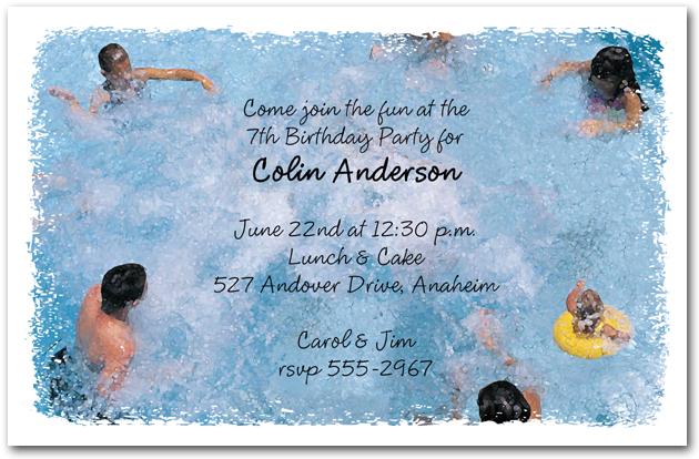 Splash It Up Pool Party Invitations Kids Birthday Party Invitations