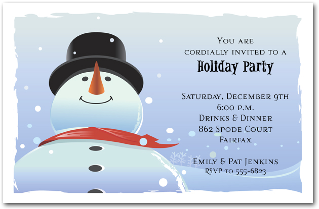 Winter Birthday Party Invitations, Snowman Invitations, Childrens Party