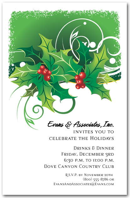 invitation wording for holiday party