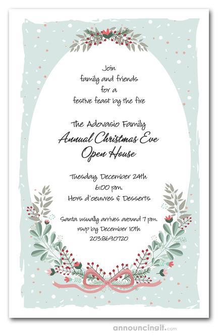 Mint Christmas Holiday Party Invitations - holiday party invitation