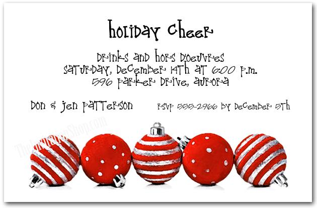 Business Holiday Invitations Corporate Christmas Party Invitations
