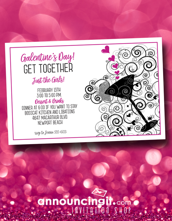 Galentine\u0027s Day Party Invitations AnnouncingIt Blog - 's day party invitation