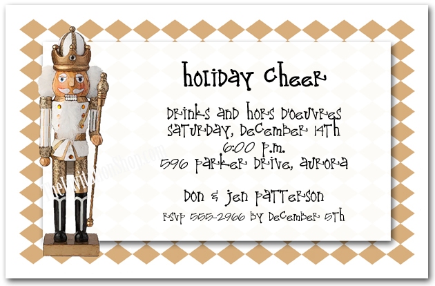 Nutcracker Invitations for Holiday Parties - Christmas Pizzazz