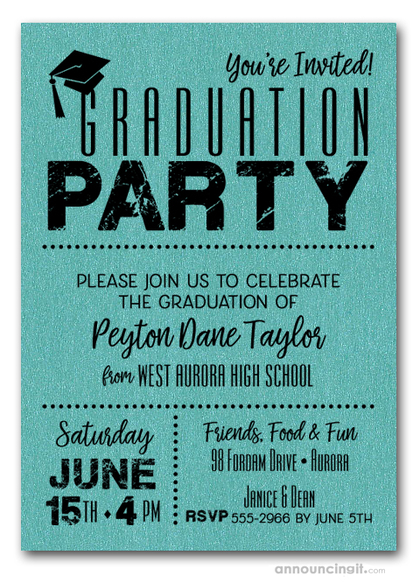 Graduation Party Invitations Who do you Invite? When do you mail them? - graduation party invitations