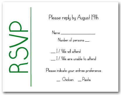 RSVP vs Regrets Only, What Should You Use on your Invitations?