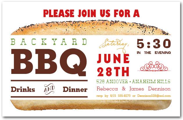 Billboard Hot Dog Party Invitations