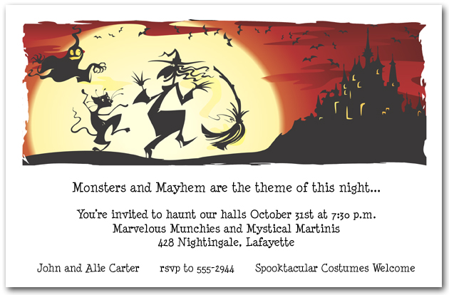 Dance in the Moonlight Halloween Invitations - halloween invitation