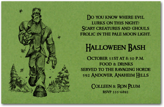 Halloween Invitations, Halloween Party Invitations - halloween invitation