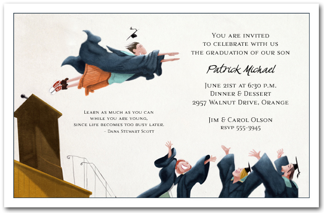 Flying High Graduation Party Invitations, Graduation Announcements - invitations graduation