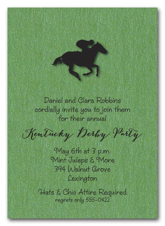 Kentucky Derby Party Invitations, Derby Invitations