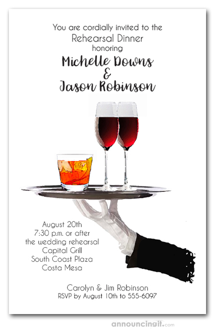 Server\u0027s Tray Cocktail Party Invitations