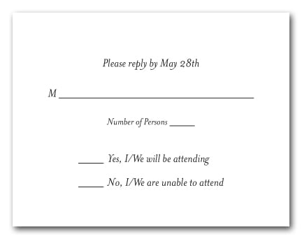 rsvp card sample - Onwebioinnovate