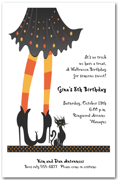 Witches Welcome Halloween Invitation, Witch Halloween Invitation