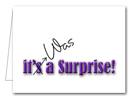 Note Cards Purple Dot Surprise Party Thank You Notes - purple note cards
