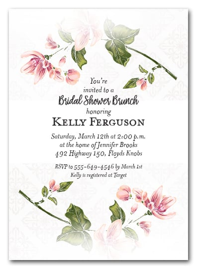 Spring Flower Stems Party Invitations