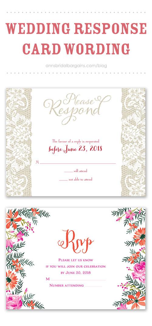 Wedding Response Card Wording - wedding response postcards