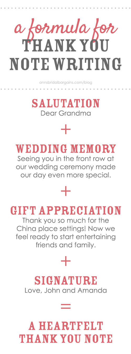 Wedding Thank You Notes Made Simple