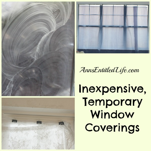 Inexpensive, Temporary Window Coverings