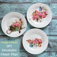 DIY Decorative Flower Plate
