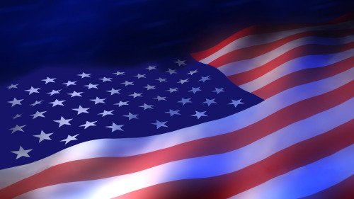 Our Flag, Anthem  Pledge - Ann M Wolf - american flag background for word document