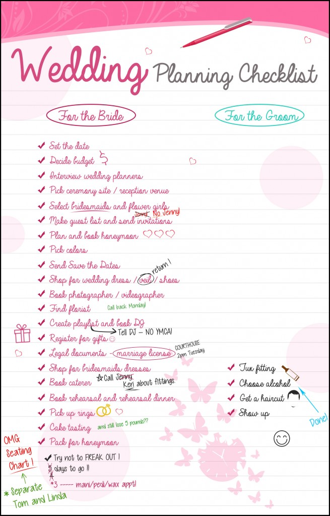 Wedding Planning Checklist \u2014 The Groom Has It So Easy! -Anoush