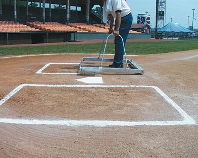 White Line 1591 E-Z Softball Batter\u0027s Box Chalker Template, Softball - baseball field template