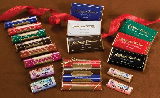 Custom Candy Bar Wrappers Anthony-Thomas Chocolates