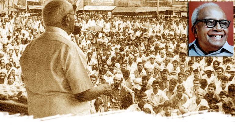 EMS speaks at election public meeting, 1991 (Deshabhimani file photo)