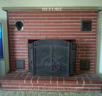 How to easily reface a fireplace with faux stone panels ...